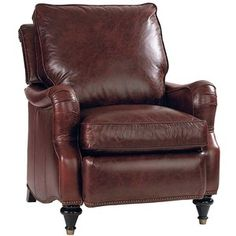 Front-Wood-Leg-Recliner-Chair-in-Brown-Leather