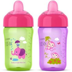 0d3a10bff6f Philips Avent My Sip N Click Cup Stage 2 Soft Spout Sippy Cup - 2 pack -  Walmart.com