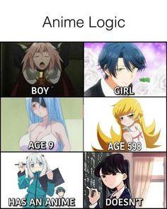 ani me logic Anime Meme, Otaku Meme, Manga Anime, Really Funny Memes, Stupid Funny Memes, Funny Relatable Memes, Anime Reccomendations, All Meme, Gaming Memes
