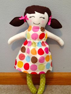 The Weeds: Black Apple Dolls with dress