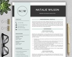Professional and Modern Resume Template for Word CV Template Modern Resume Template, Creative Resume Templates, Cv Template, Design Templates, Resume Cv, Resume Design, Cv Design, Interior Design Resume, Resume Tips
