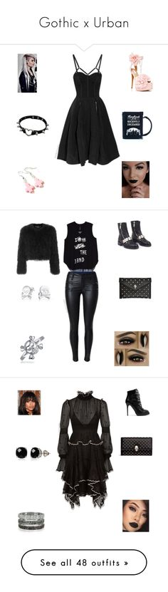 """""""Gothic x Urban"""" by irockcrowns ❤ liked on Polyvore featuring Sugarbaby, Dorothy Perkins, Killstar, Lime Crime, Melissa McCarthy Seven7, Alexander McQueen, Bling Jewelry, plus size clothing, Bernard Delettrez and Belk & Co."""