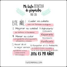 ¡¡Por fin, una lista de propósitos 100% viable!! yujuuuu