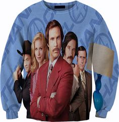 Anchorman Sweatshirt Crewneck Sweater by YeahWhateverz on Etsy