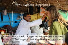 In India, I tried out hypnosis for the first time. Find out more about what happened in the link below! Gut Feeling, Spiritual Practices, I Tried, First Time, Spirituality, Therapy, Mindfulness, India, Yoga