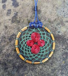 SALE  20% OFF Red Spiral Symbol / Very thin and round by Amuleth