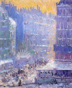 Theorore Earl Butler (1860-1936) : Place du Havre, 1909.