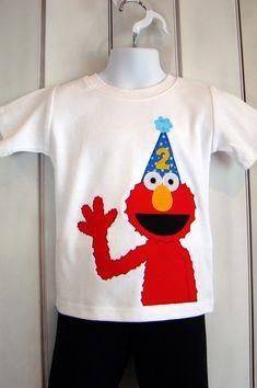 Custom Elmo Sesame Street Birthday Shirt on Etsy