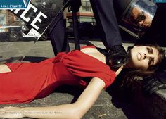 """State Of Emergency"" Vogue Italia September 2006 Photographer: Steven Meisel Models: Hilary Rhoda and Iselin Steiro Steven Meisel, Carmen Kass, Guy Bourdin, Terry Richardson, Paolo Roversi, Vogue Paris, Fashion Images, Fashion Models, High Fashion"