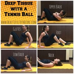 Deep Tissue with a tennis ball! A great way to perform self massage after a long day at work or an intense workout!