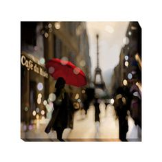 'Paris Stroll' by Kate Carrigan Graphic Art on Wrapped Canvas