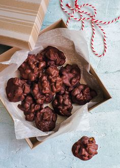 Chocolate Hokey Nut Clusters