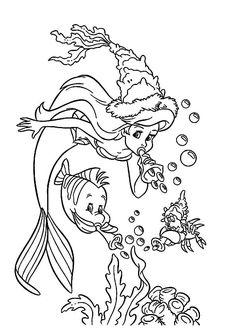 peter pan mermaid coloring pages - photo#42
