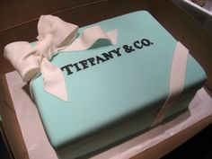 tiffany box cake bridal shower :)...@Skyler Dawes @Teresa Anguiano @Jennifer Jordan