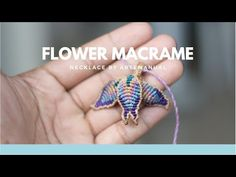 Lily Flower Pendant   Macrame Tutorial   Step by Step - YouTube