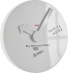 Alessi, the Italian Sign of Design. Learn the History, meet the Designers, Discover the collections and Buy Online the home products crafted by Alessi Wall Clock Face, Wall Clocks, Blank Clock, Funny Doodles, Alexander Girard, Interior Desing, Wall Clock Online, Unique House Design, Wall Clock Design