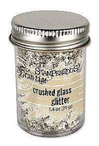 Stampendous: Fran-tage Silver Crushed Glass Glitter - make yourself  by crushing glass baubles in a bag - rolling pin until fine....