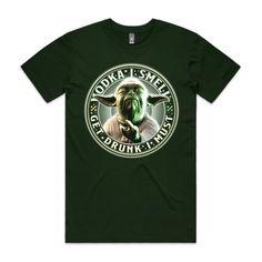 VODKA YODA - Forest Green - Single-Sided Printing - Guys Staple Tee (Same Day)