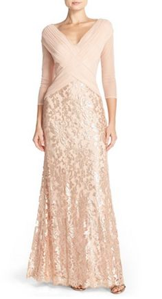 Shimmery gown by Adrianna Papell