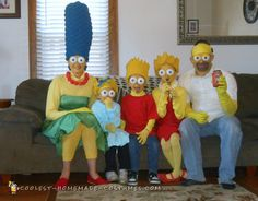 Simpson Family Costumes ... Coolest Homemade Group Costume Idea