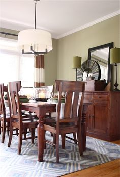 Idea for my small dining room.  The Yellow Cape Cod: Client Dining Room Makeover~Before and After