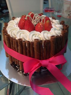 #blackforest #cake #strawberry made by me