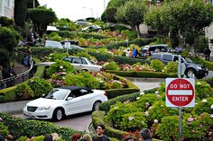 サンフランシスコにある世界でもっとも曲がりくねった道『ロンバート・ストリート』 | wondertrip