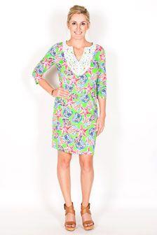 Rosi Crochet Neckline Dress
