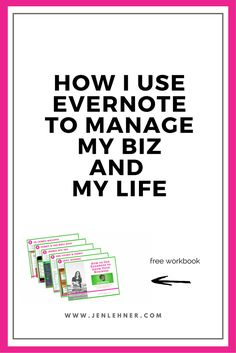 How I Use Evernote to Organize My Biz and My Life - As an entrepreneur, it's SO important to be productive. In this post, you'll learn how to use Evernote in your business. Enjoy! @thesocialexpert