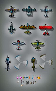 Plane artbox is a package of ten unique cartoon game airplanes and two unique combat helis - EatCreatures. Plane Drawing, Pixel Drawing, 2d Game Art, Video Game Art, Game Plane, Solid Games, Cartoon Airplane, Photoshop Video, Apocalypse Art