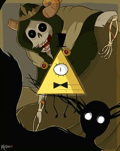 Before there was time, before there was anything There was nothing. And before there was nothing, There were monsters. the lich the beast Bill cipher otgwadventure time gravity falls