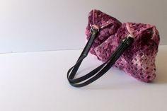 SALE OFF 20Purple crochet tote bagCrochet Handbag  by hibbe, $75.00
