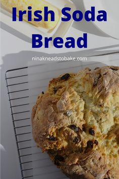 Patrick's Day with a slice of Irish Soda Bread slathered with a sweet orange butter. This loaf is flavoured with orange zest and raisins. My Recipes, Baking Recipes, Dessert Recipes, Desserts, Savoury Baking, Cupcakes, Soda Bread, Orange Zest, Food Website