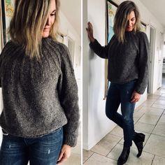 Eksperimentet - strikket sweater i silke og alpacca - FiftyFabulous Creative Knitting, Knitting Magazine, How To Purl Knit, Baby Knitting Patterns, Wool Sweaters, Pulls, Knitwear, Creations, One Piece