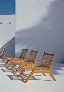 Loungers and Deck Chairs Unopiù (With images)   Teak patio