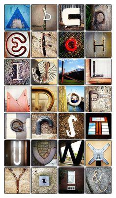 Alfabet op straat - de wereld door de ogen van Cascade visuele communicatie.