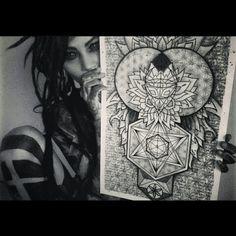 Sacreddick #dreads #dreadlocks #illustration #sacredgeometry #floweroflife #love