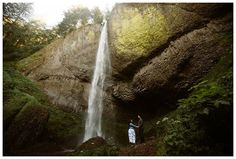 Latourell Falls engagement photos in the Columbia River Gorge