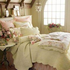 Shabby Bedroom...♥ - I know this is way to feminine for my husband, but love it none the less.
