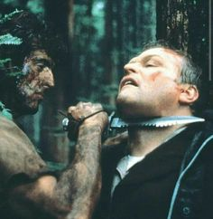 First Blood - Publicity still of Sylvester Stallone & Brian Dennehy Epic Movie, Film Movie, Brian Dennehy, Silvester Stallone, The Fall Guy, First Blood, Girls In Mini Skirts, War Film, Action Movies