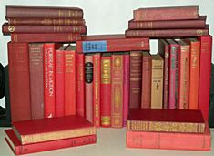 30 Various RED Hardback Books, Perfect for Display - Wedding Decoration Etc Shades Of Red, Book Collection, Bookends, Wedding Decorations, Display, Ebay, Ideas, Floor Space