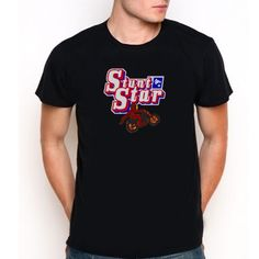 new Stunt Star  Custom Black T-Shirt Tee All Size XS-XXL