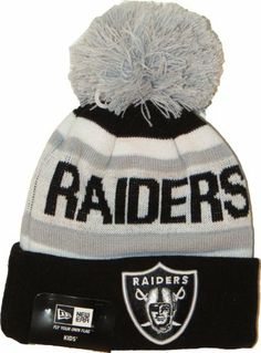 New Era Kids EMEA The Jake 5 Oakland Raiders NFL Bobble Hat Price   £14.95 bdc997428