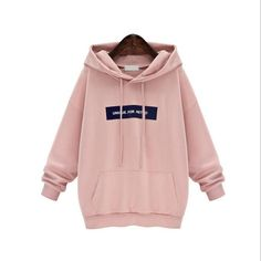 cd712c1d47c2 Adogirl Autumn Plus Size Hoodies Women Long Sleeve Pullover Hoodie  Sweatshirt Gray Pink Casual Hooded Outerwear