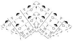 "Evening In Paris / DROPS 165-11 - Gehaakte DROPS omslagdoek met stokjes en kantpatroon van ""BabyAlpaca Silk"". - Free pattern by DROPS Design"