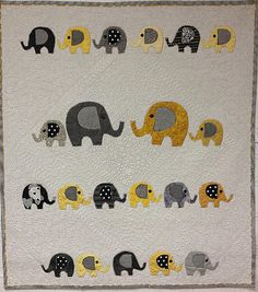 Five Size Available: Throw, Twin, Queen, King and California/Super King! Elephant Quilt, Baby Elephant, Elephant Outline, Applique, Baby Quilt Patterns, Animal Quilts, Boy Quilts, Baby Gifts, Sewing Projects