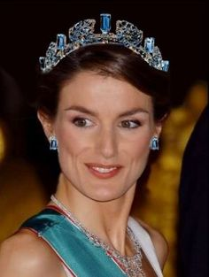 Princess tiaras - spain royal tiara - Crown Princess Leticia of Spain wearing Tiara.jpg