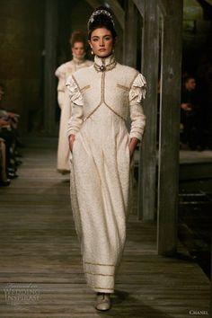 Chanel 2013 pre fall dresses | chanel pre fall winter 2013 2014 long sleeve white dress
