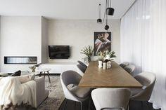 The Block series week 5 living/dining reveals - The Interiors Addict The Block Room Reveals, Beautiful Interiors, Home Living Room, Family Room, Lounge, Restaurant, Interior Design, Interior Styling, Furniture