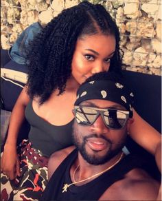 Gabrielle Union and Dwyane Wade - These Famous Couples Take The Best Selfies Together Black Celebrity Couples, Black Couples Goals, Cute Couples Goals, Celebrity Pictures, Celebrity News, Couple Goals, Beautiful Wife, Black Is Beautiful, Steve Harvey Wife